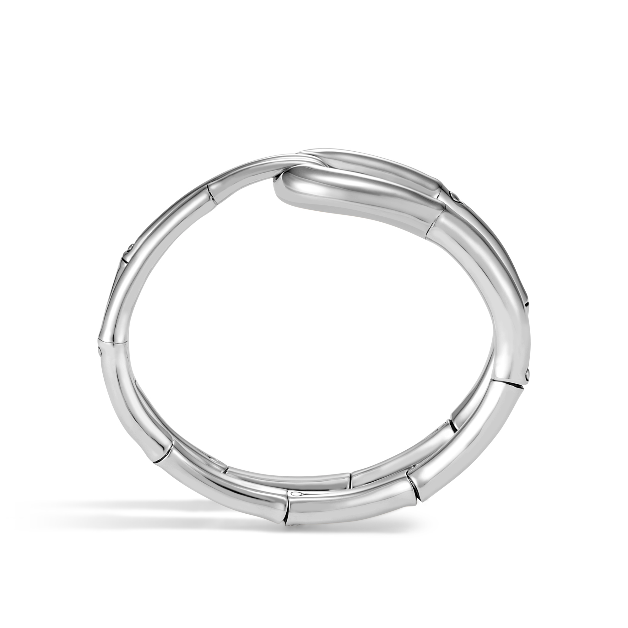 Bamboo 21MM Cuff in Silver, , large