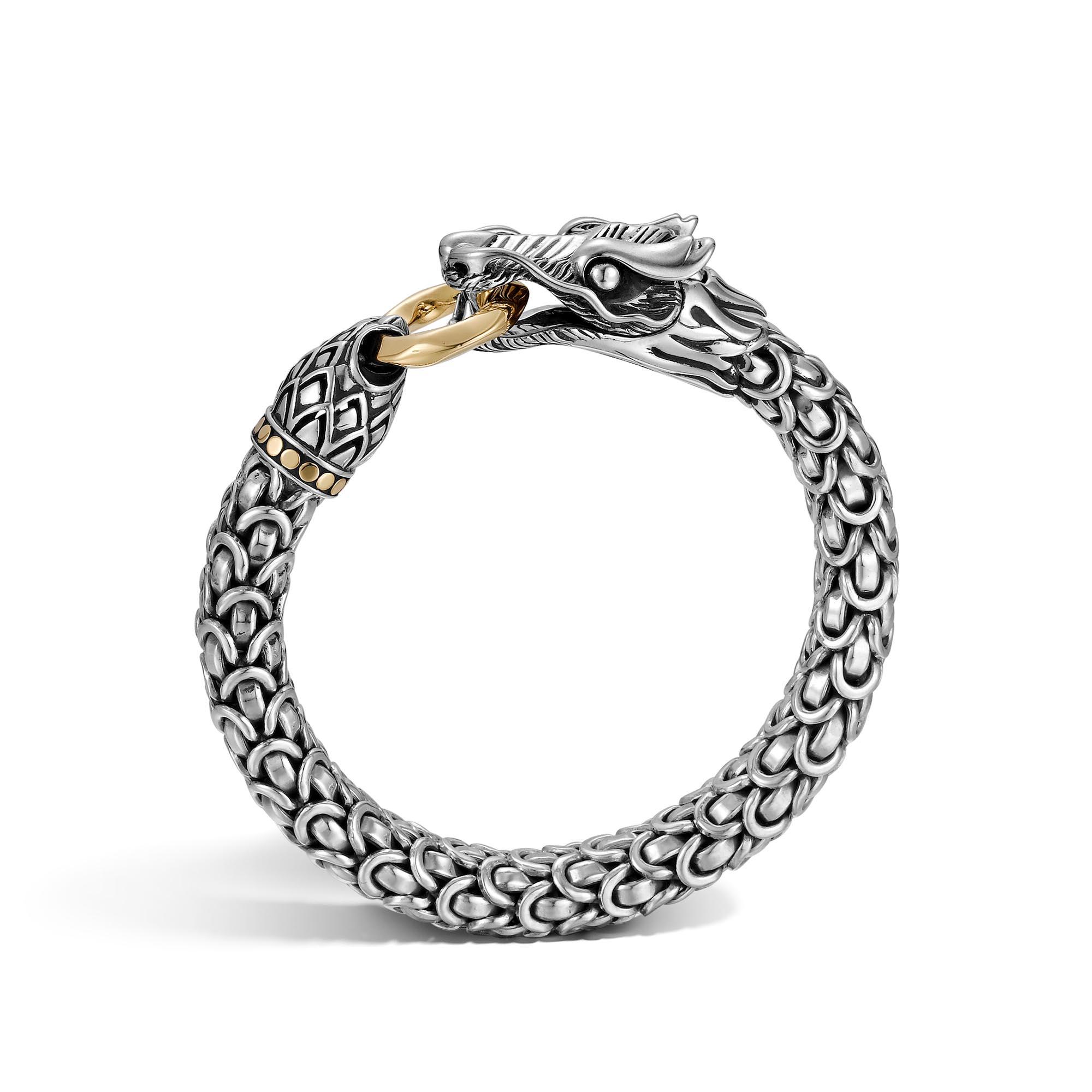 Legends Naga 10MM Station Bracelet in Silver and 18K Gold , , large