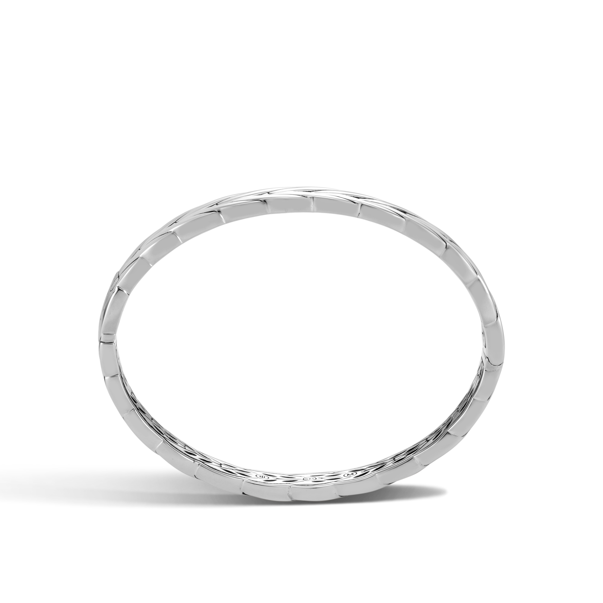 Modern Chain 8MM Hinged Bangle in Silver, , large