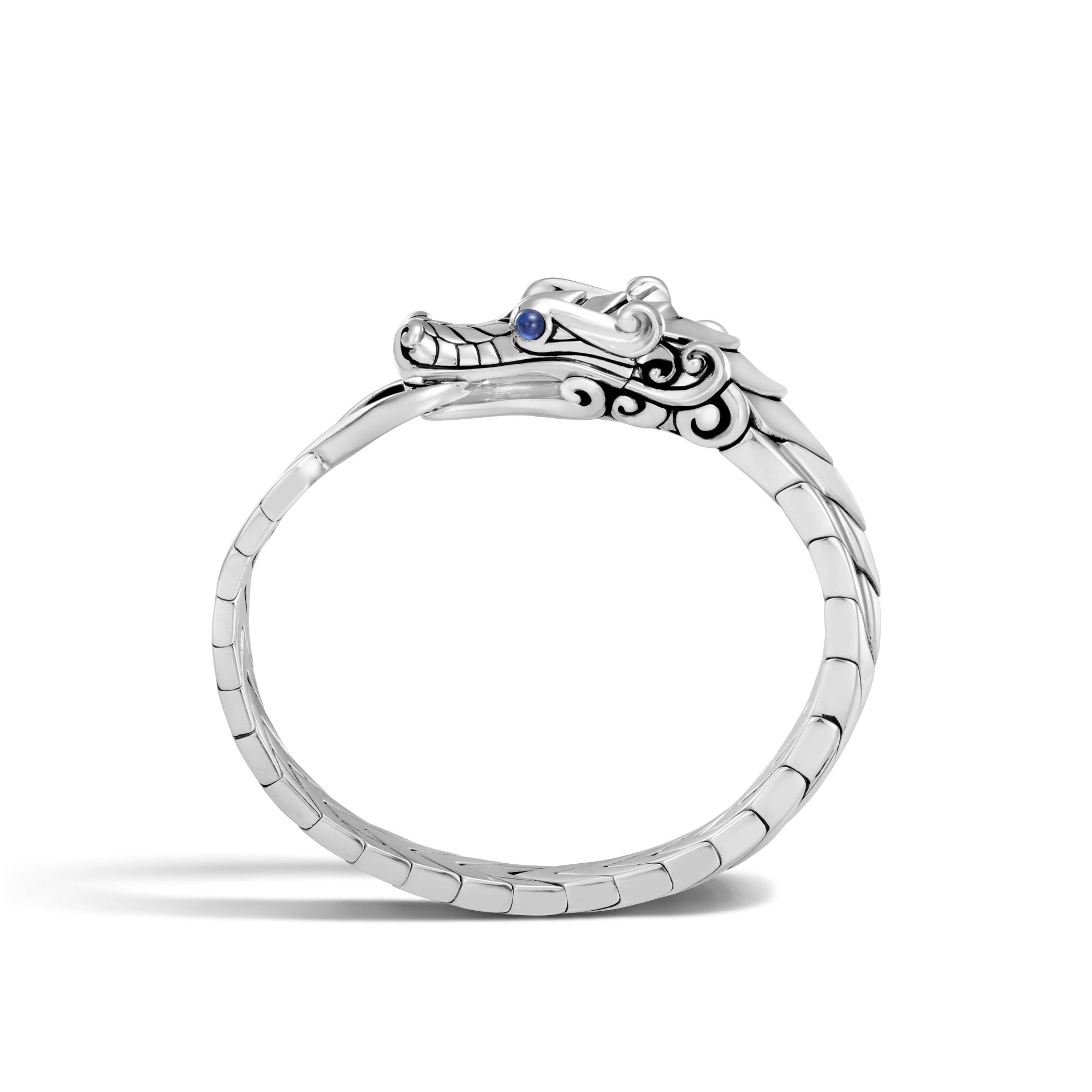 Legends Naga Bracelet in Silver, Blue Sapphire, large