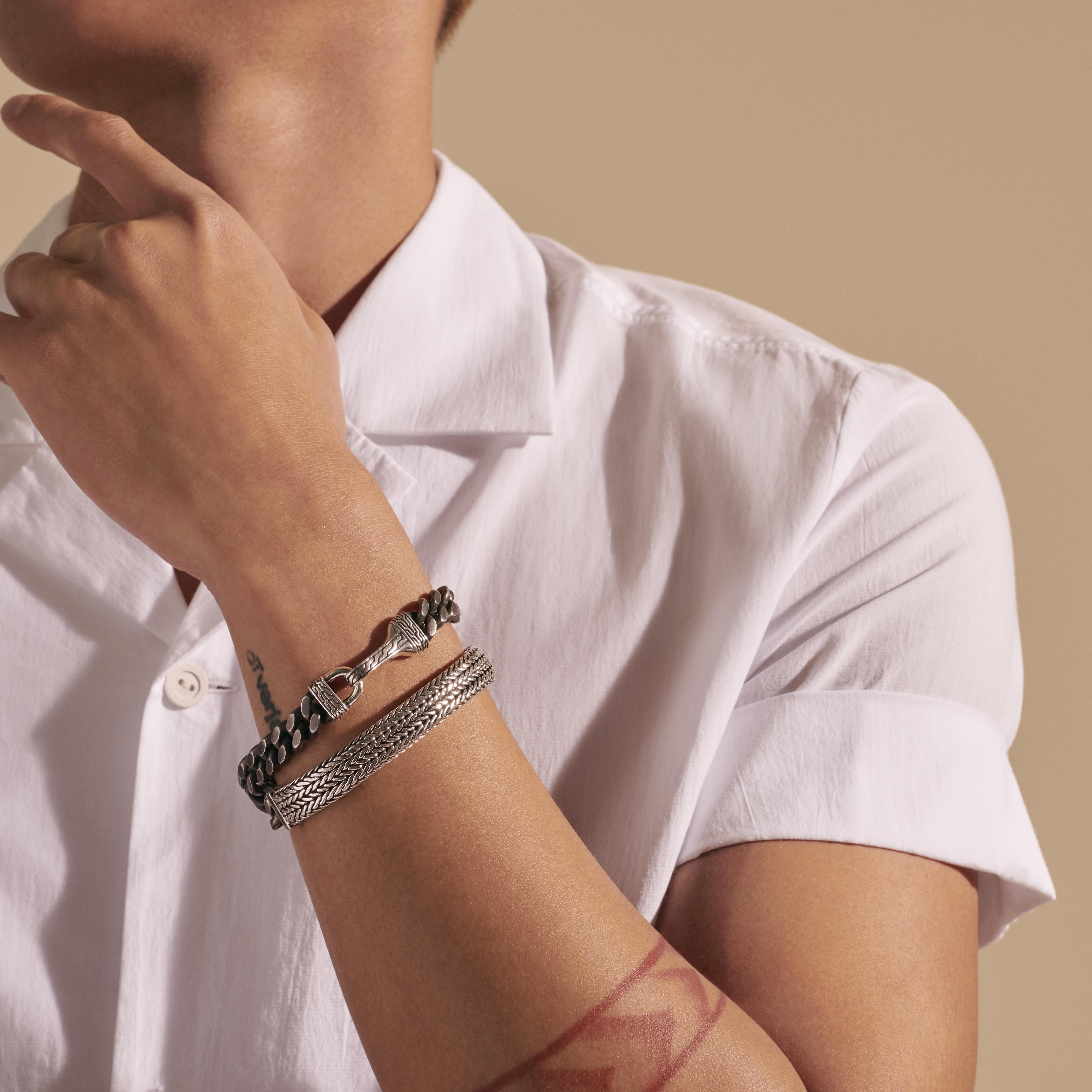 Rata Chain Curb Wrap Bracelet, , modelview