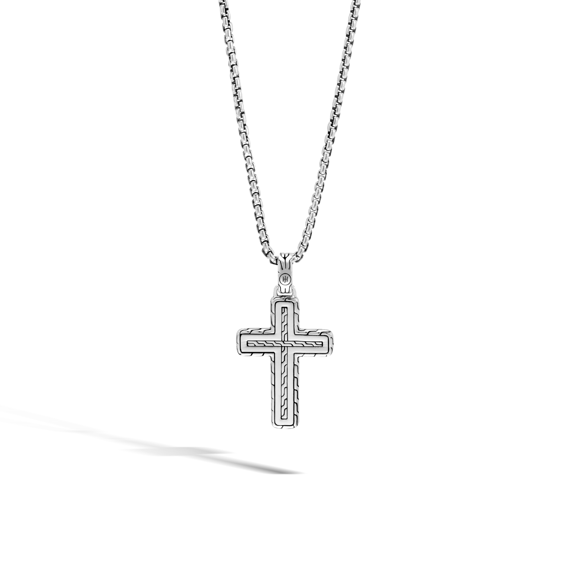 Chain Jawan Cross Necklace in Silver and 18K Gold, , large