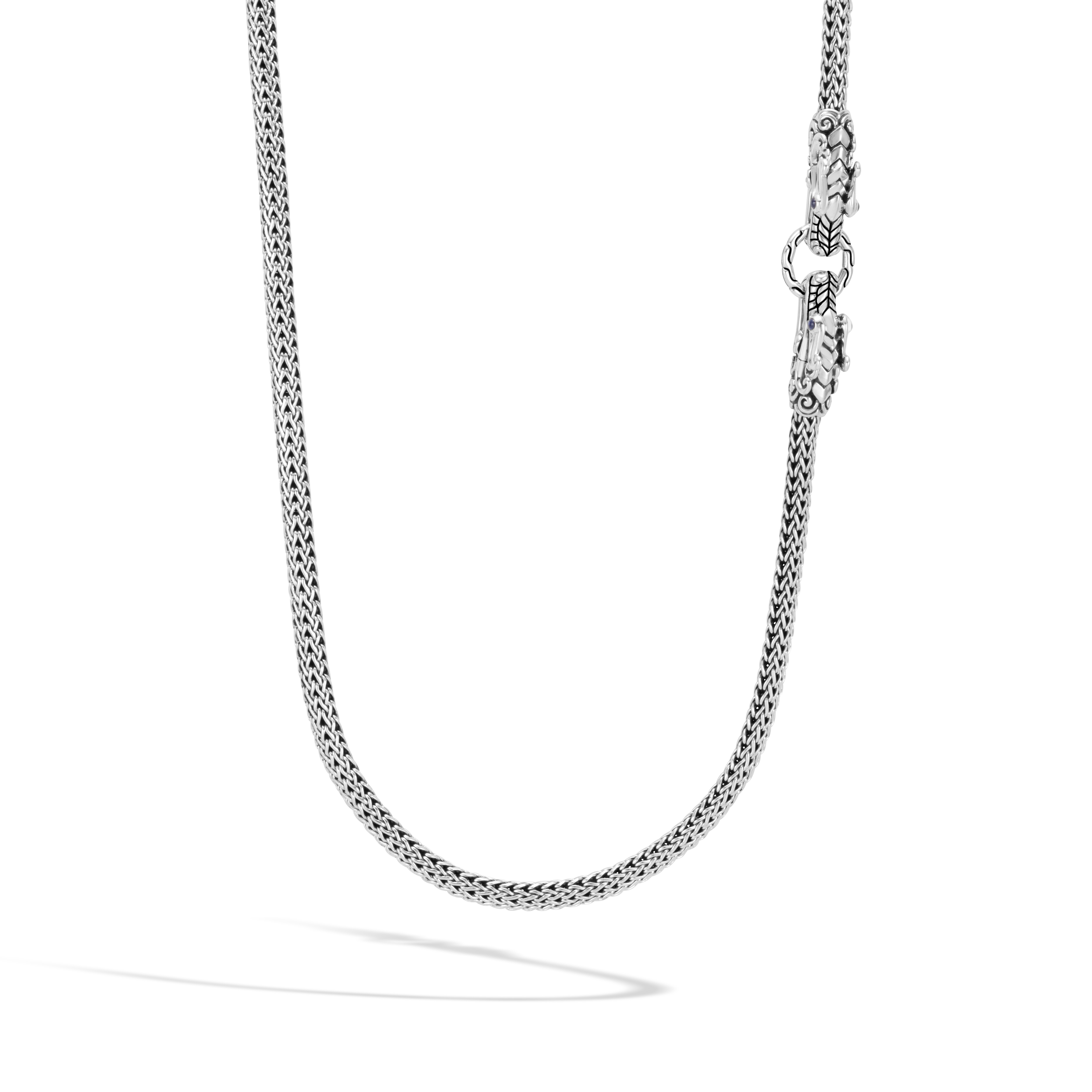 Legends Naga Long Necklace in Silver, , modelview