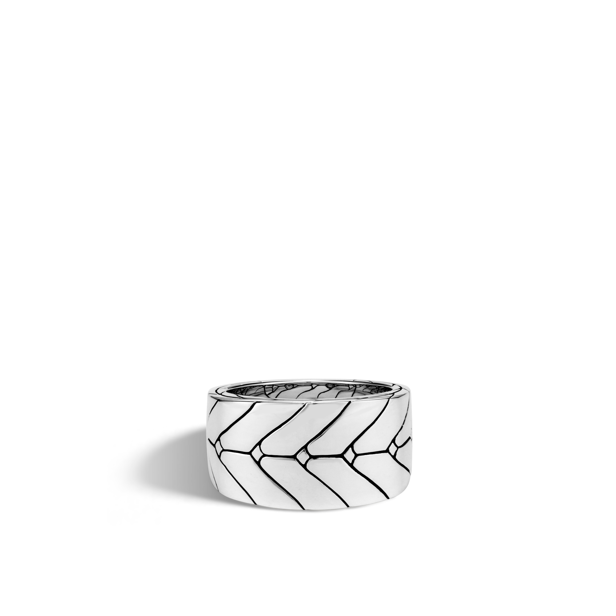 Modern Chain Ring in Silver, , large