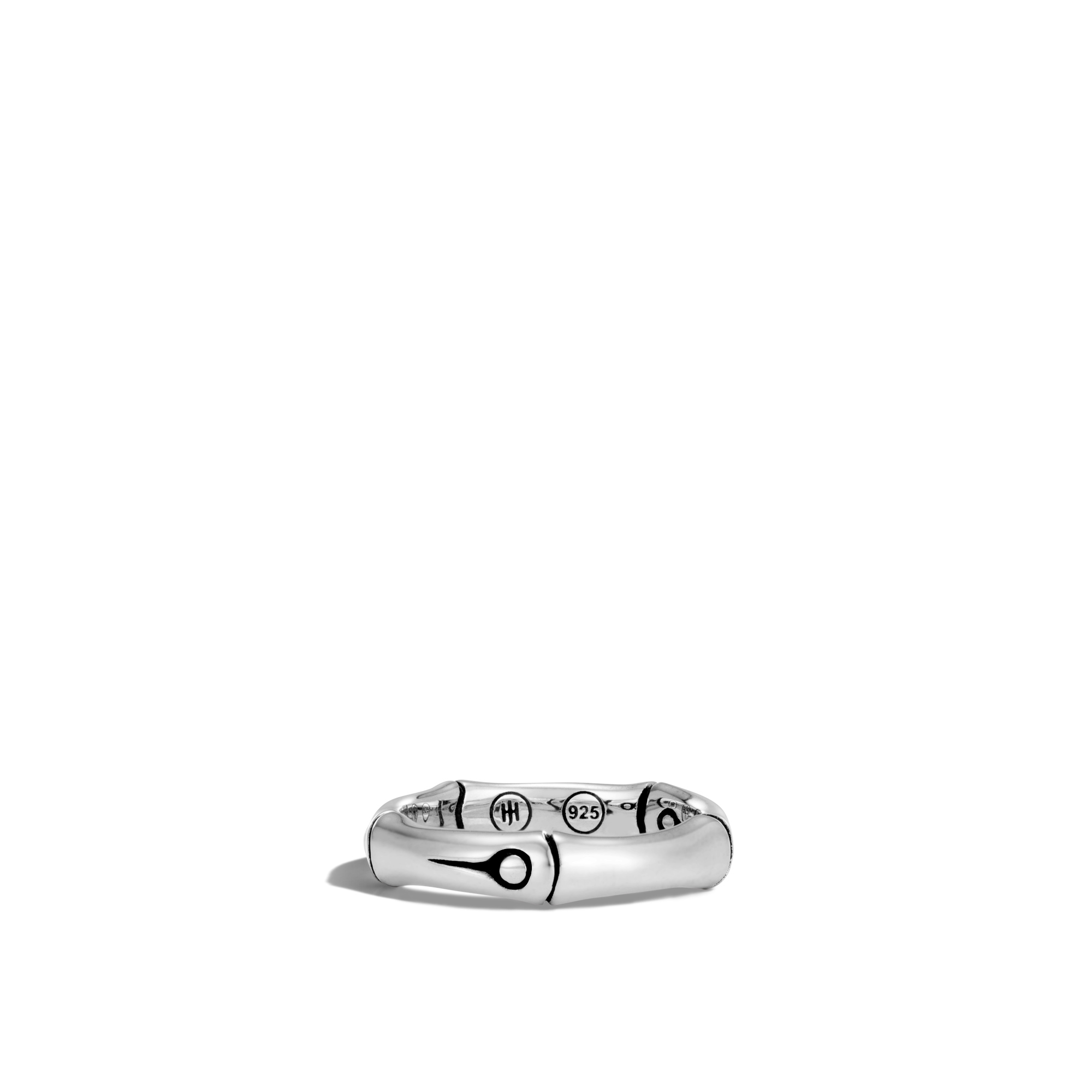 Bamboo 4.5MM Band Ring in Silver, , large