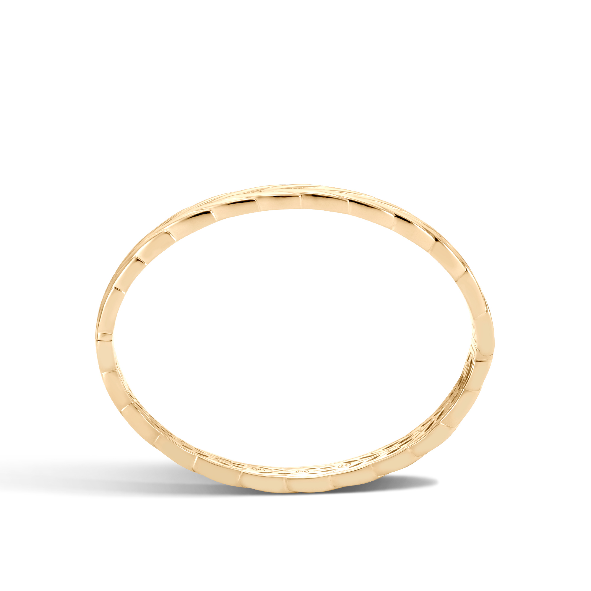Modern Chain 8MM Hinged Bangle in 18K Gold, , large