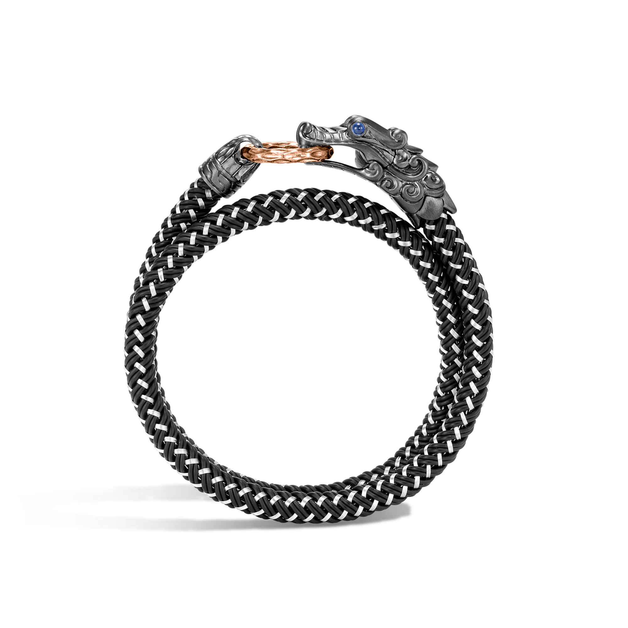 Legends Naga Wrap Bracelet In Blackened Silver and Bronze, , large