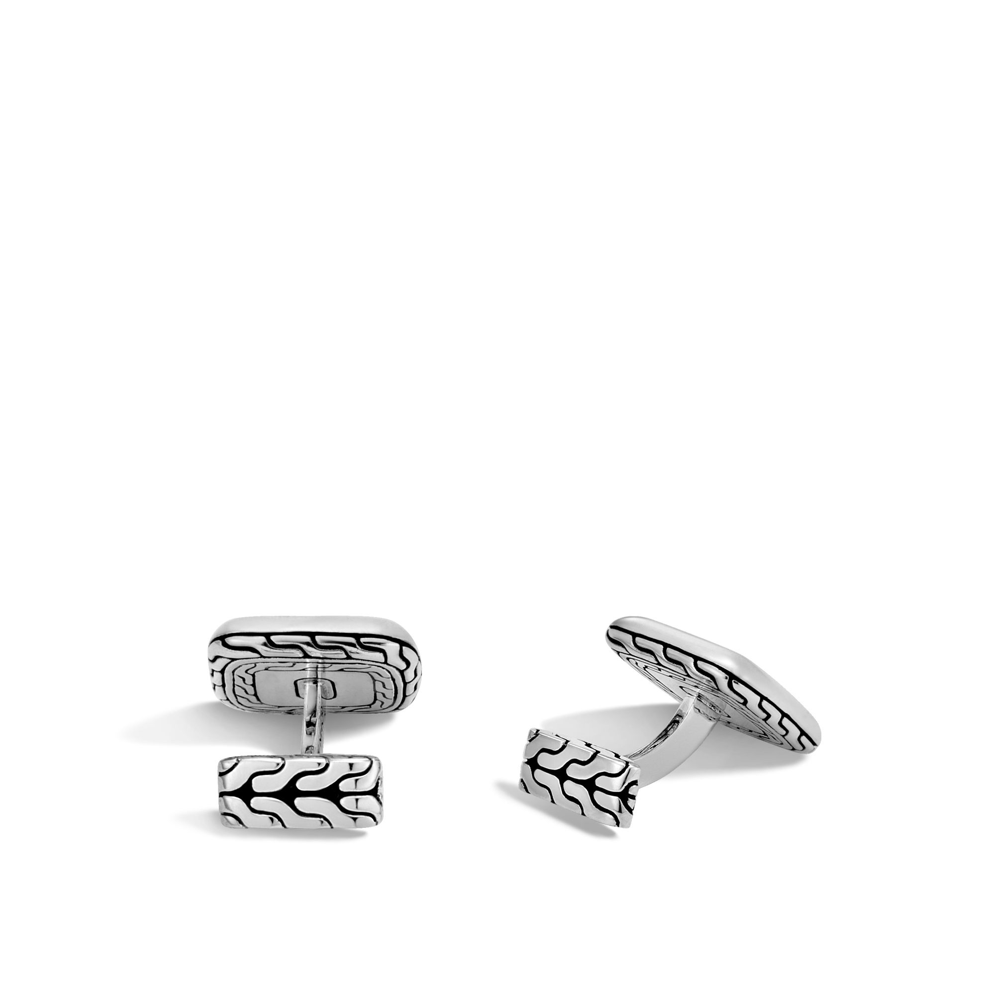 Chain Jawan Cufflinks in Silver and 18K Gold, , large