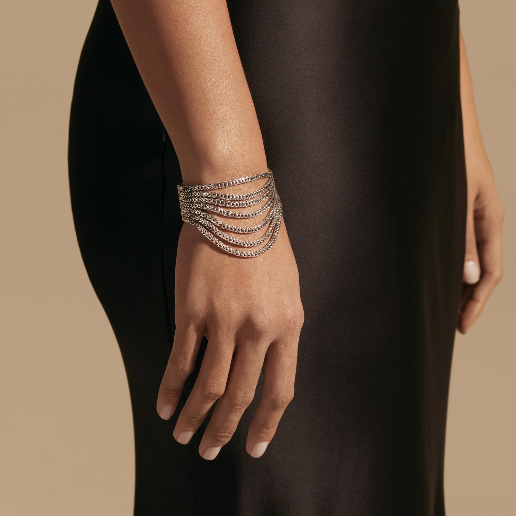 Rata Chain Multi Row Bracelet, , modelview