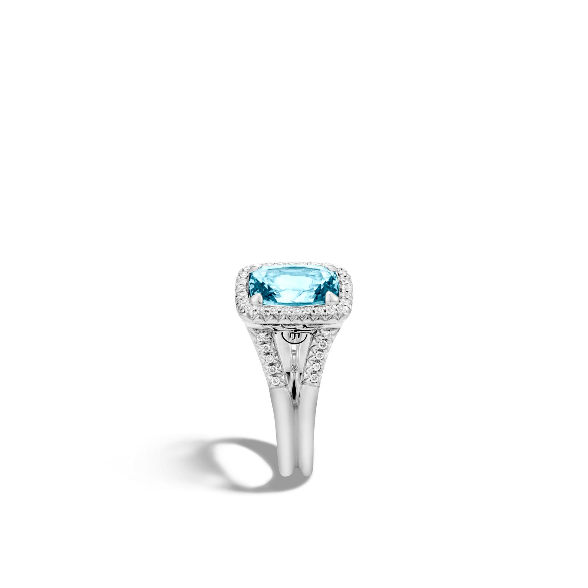 Classic Chain Magic Cut Ring, Silver, 10x7MM Gems, Diamonds, , large