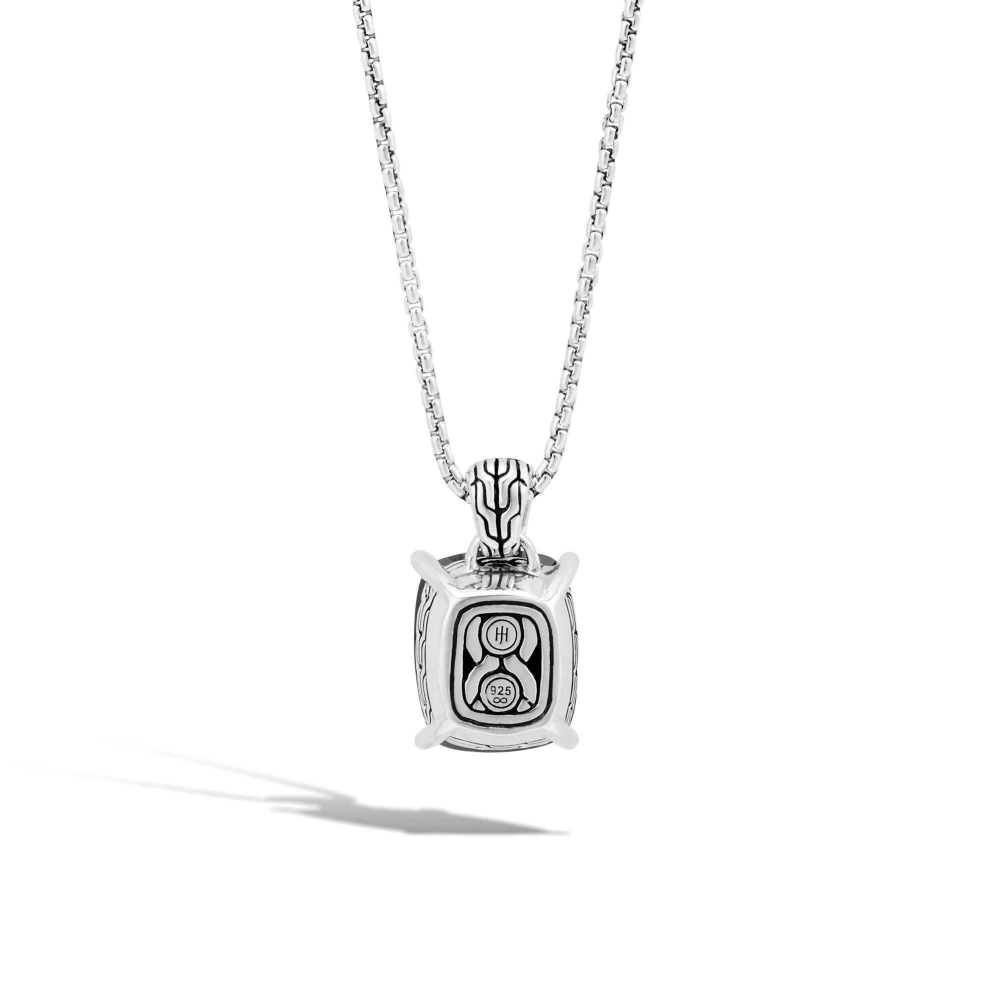 Classic Chain Magic Cut Pendant, Silver, Gemstone, Diamonds, Black Onyx, large