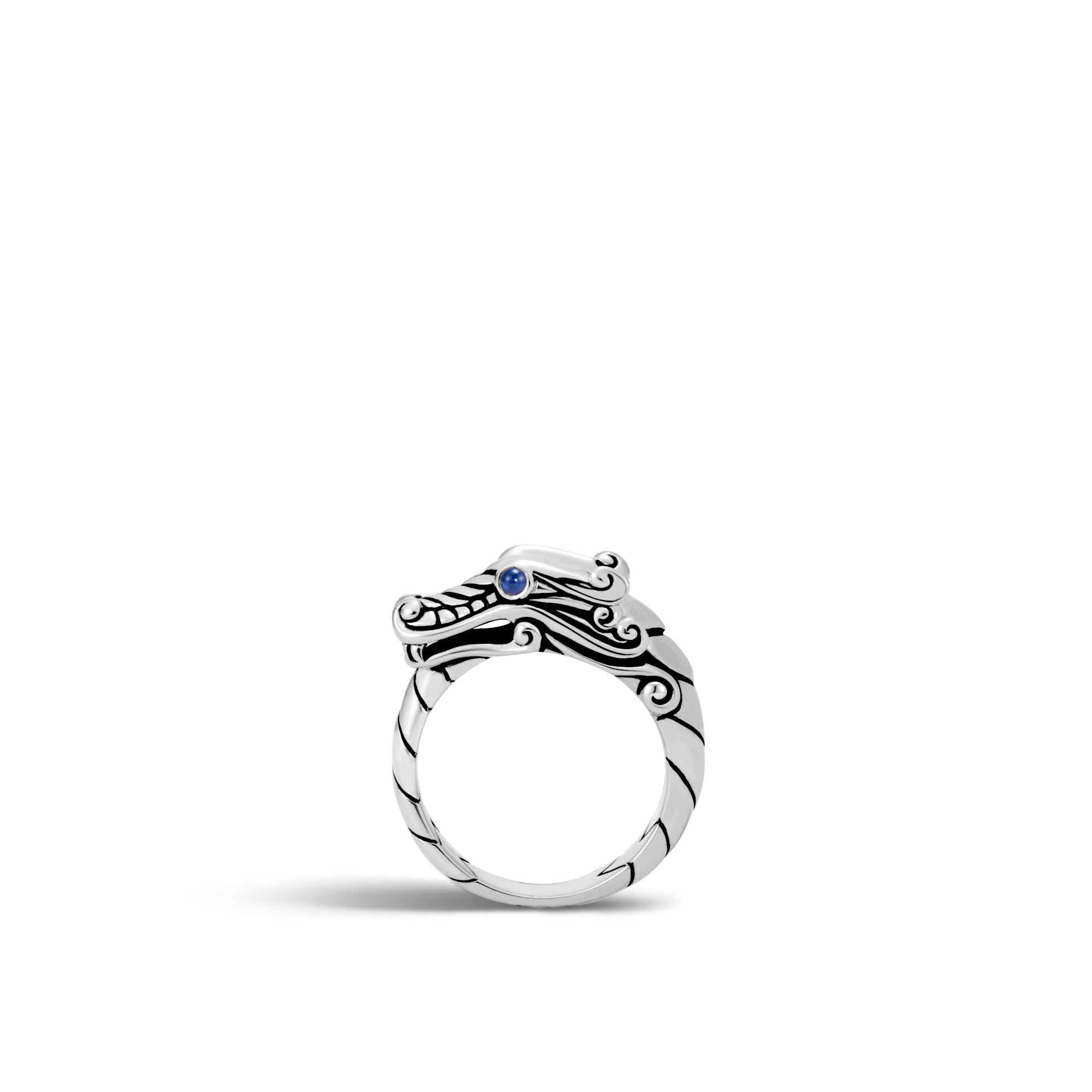 Legends Naga Ring in Silver, Blue Sapphire, large