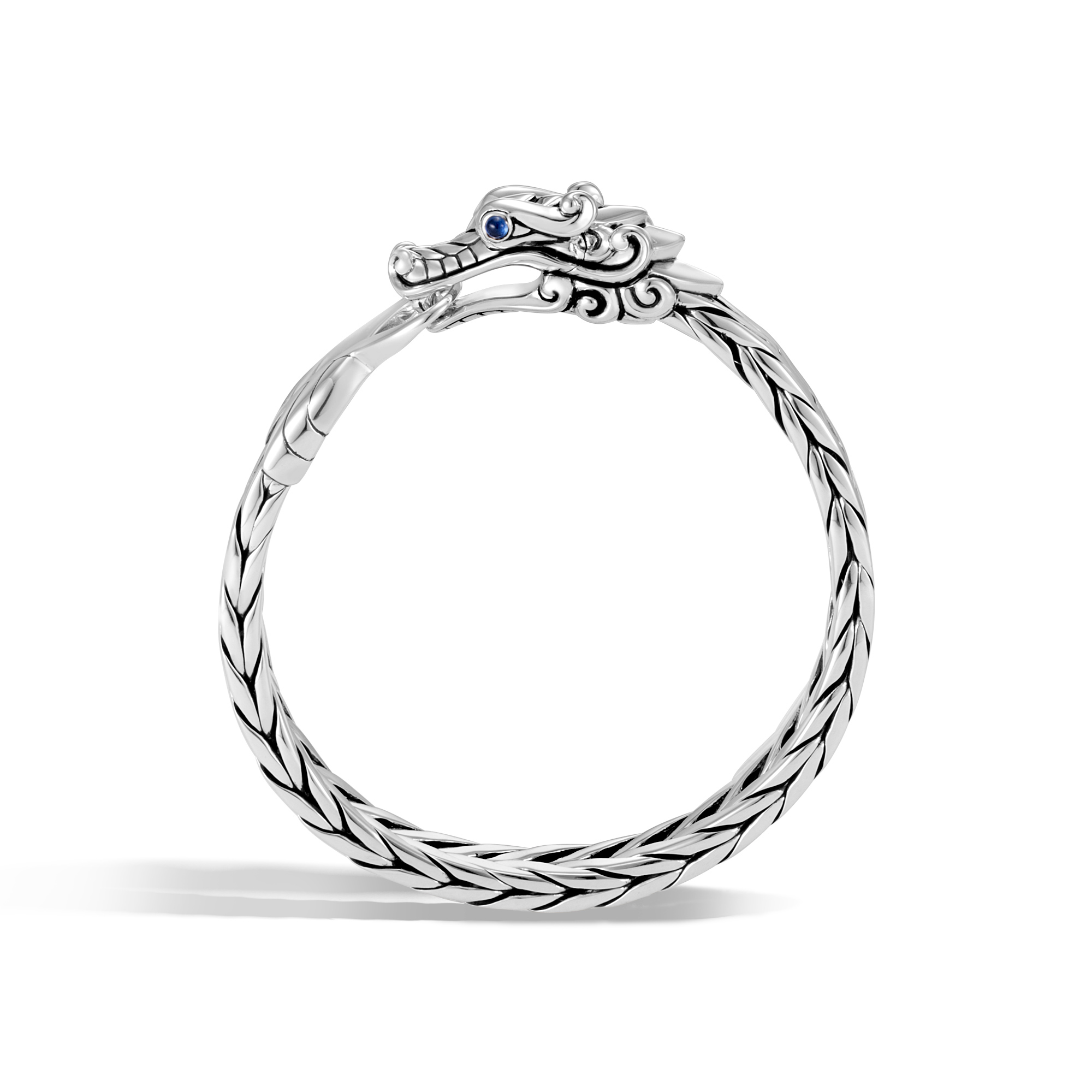 Legends Naga 9.5MM Bracelet in Silver , Blue Sapphire, large