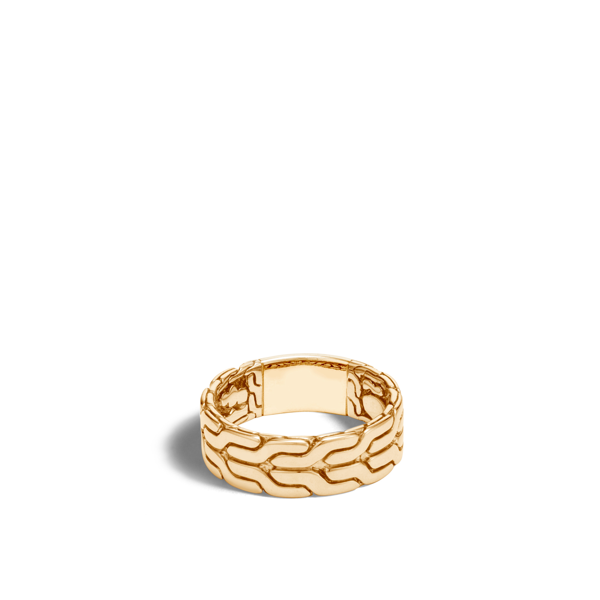 Classic Chain 8MM Band Ring in 18K Gold, , large