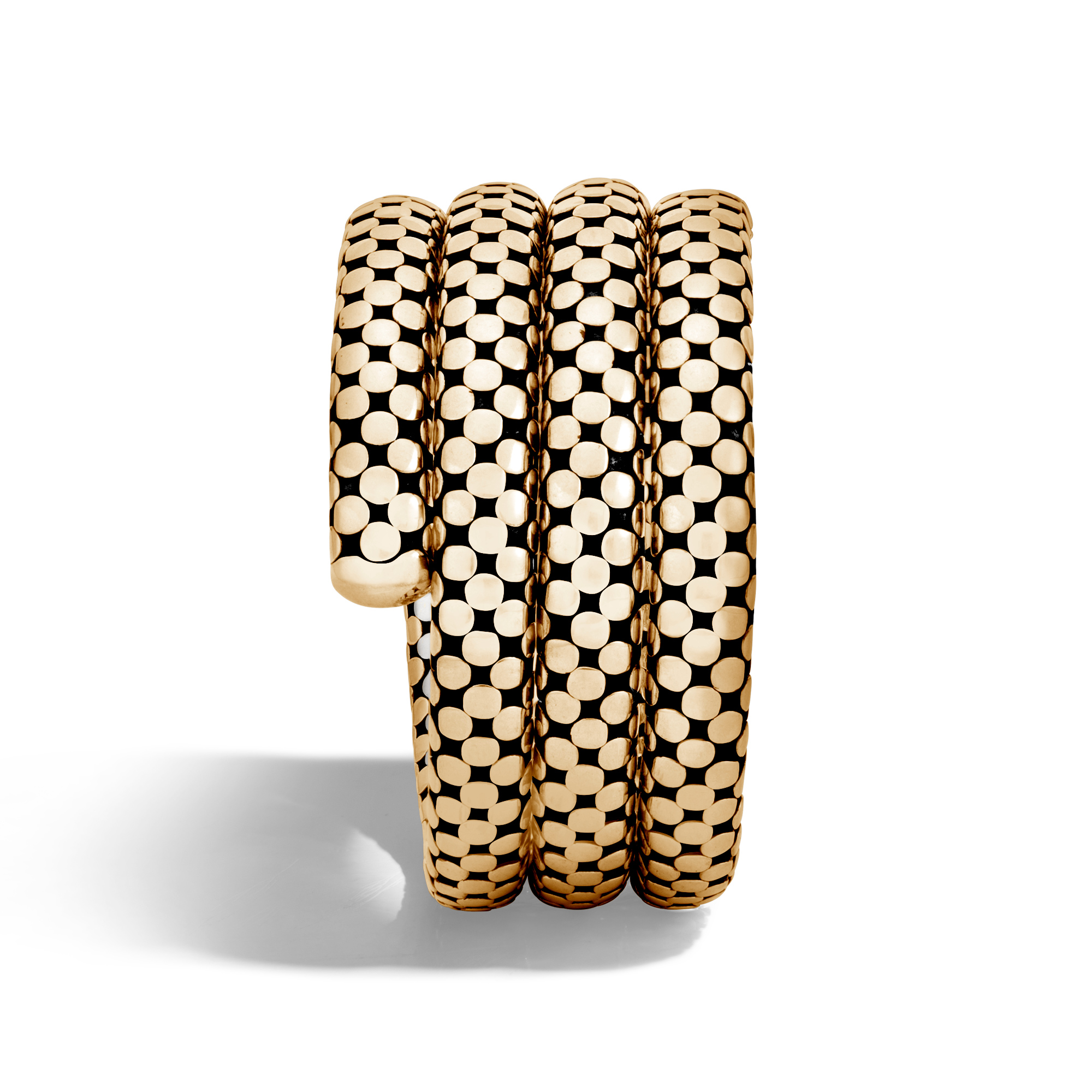 Dot Triple Coil Bracelet in Silver and 18K Gold, , large