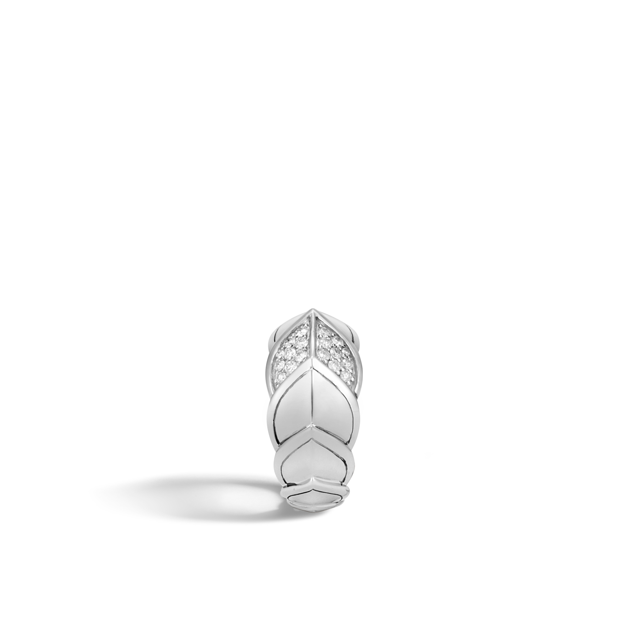 Legends Naga 11.5MM Ring in Silver with Diamonds, White Diamond, large