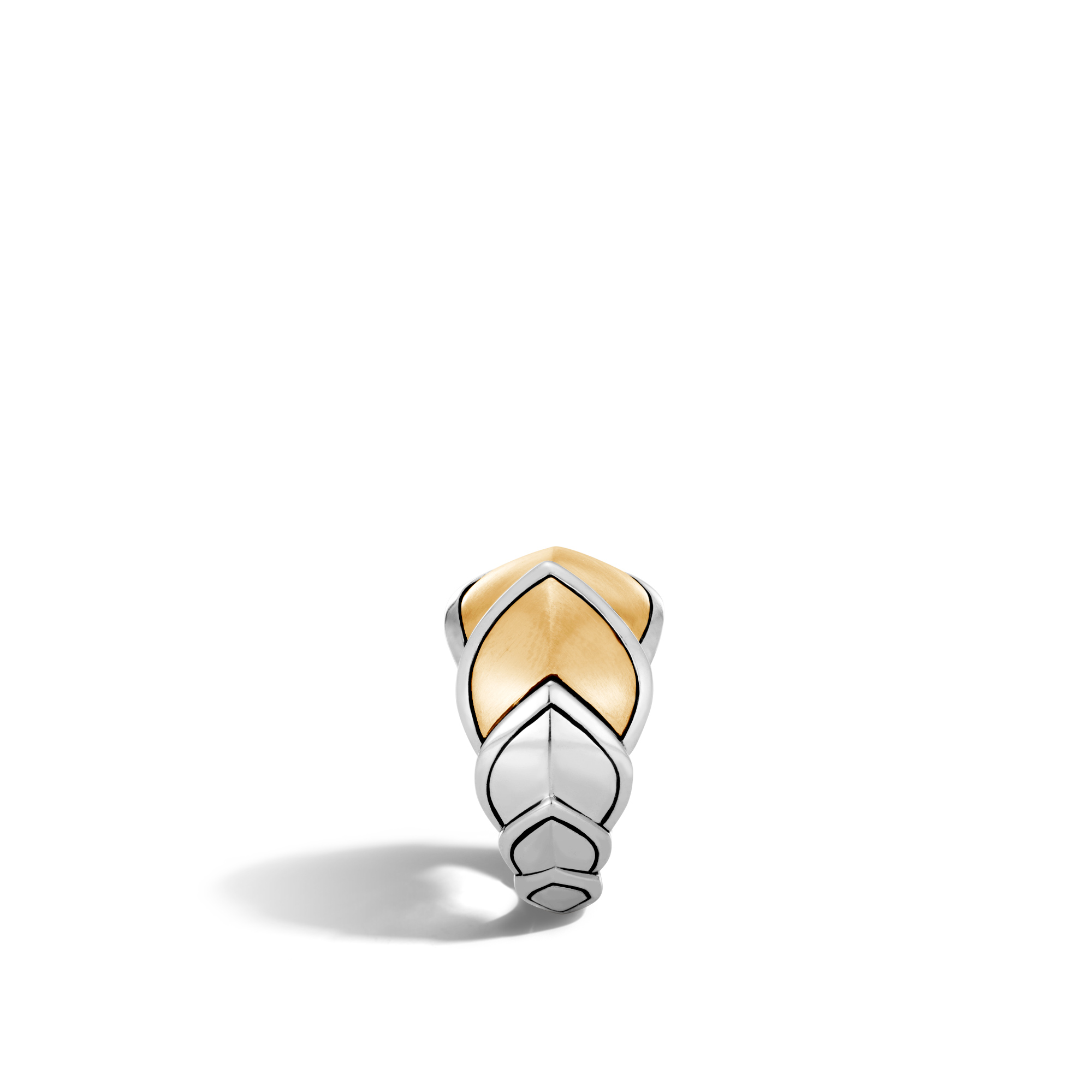 Legends Naga 15MM Ring in Silver and Brushed 18K Gold, , large