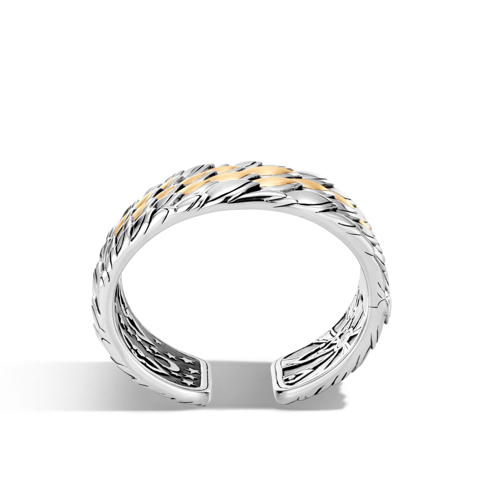 Legends Naga 40mm Kick Cuff in Silver and Brushed 18K Gold, , large
