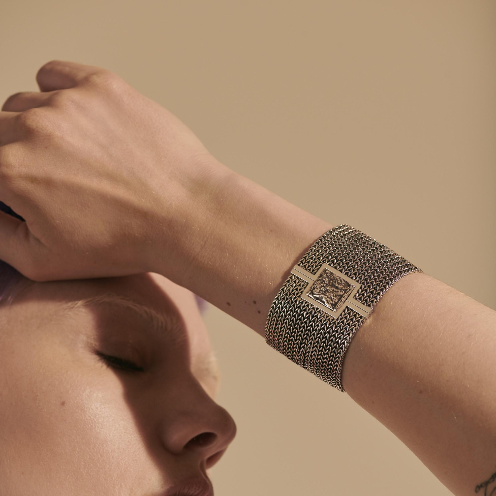 Rata Chain Wrap Bracelet, , modelview