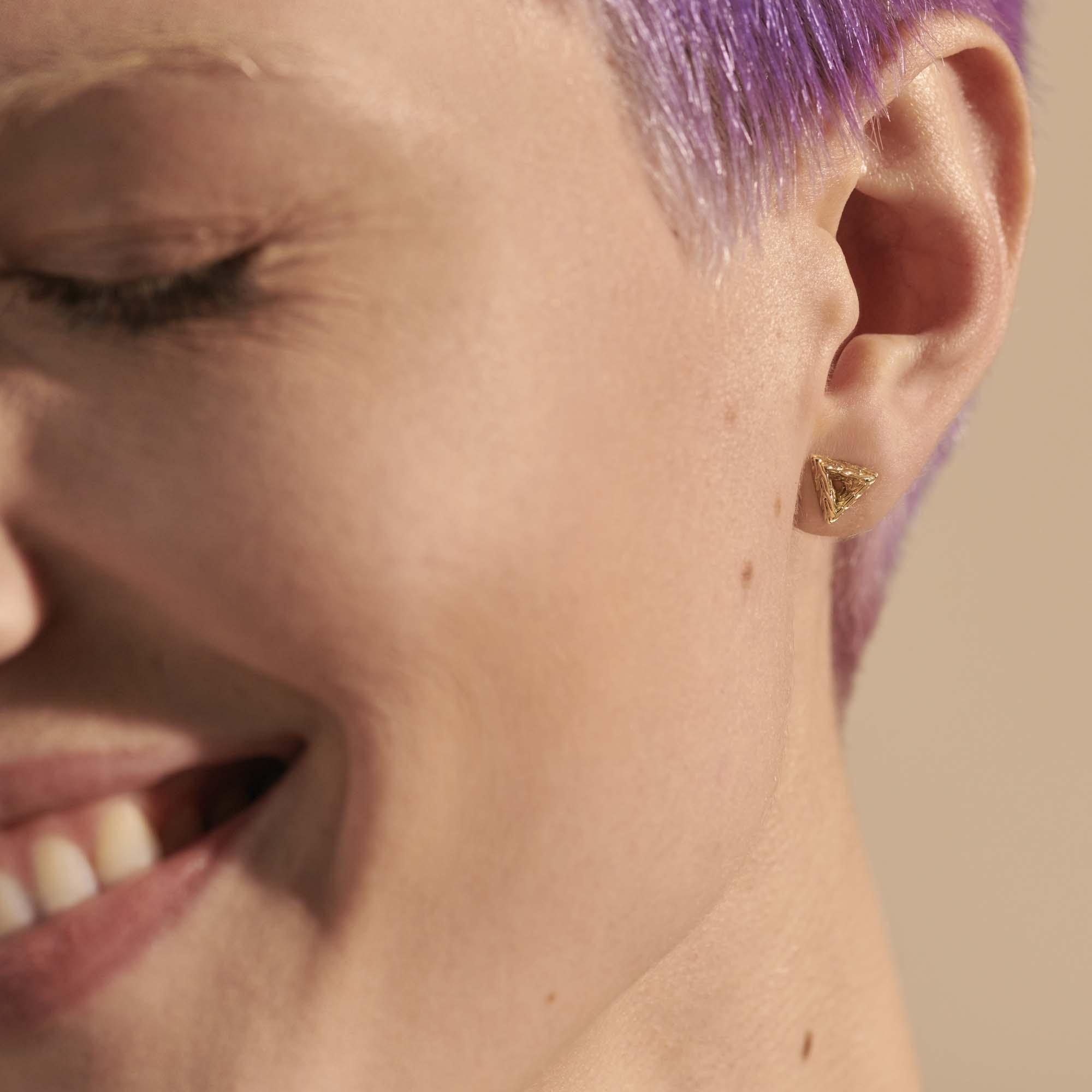 Tiga Triangle Stud Earring, , modelview