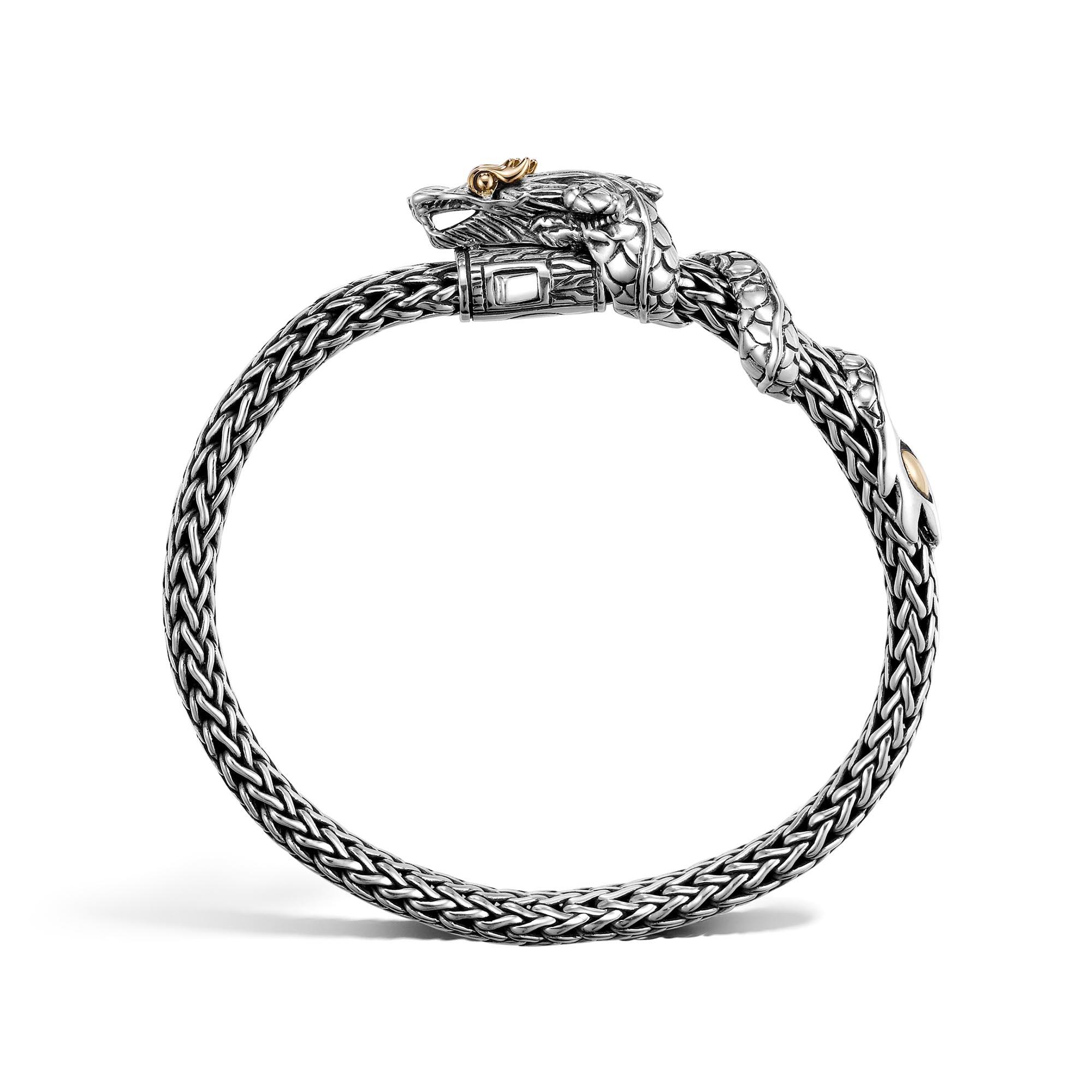 Legends Naga 6.5MM Station Bracelet in Silver and 18K Gold, , large