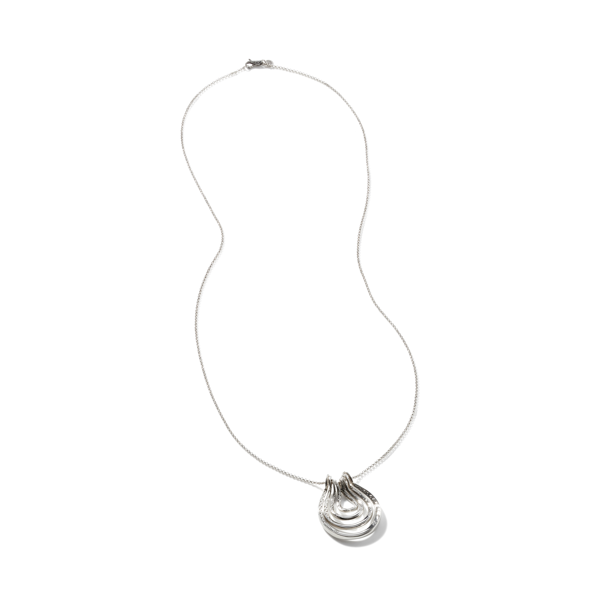 Asli Classic Chain Link Pendant Necklace in Silver, , large