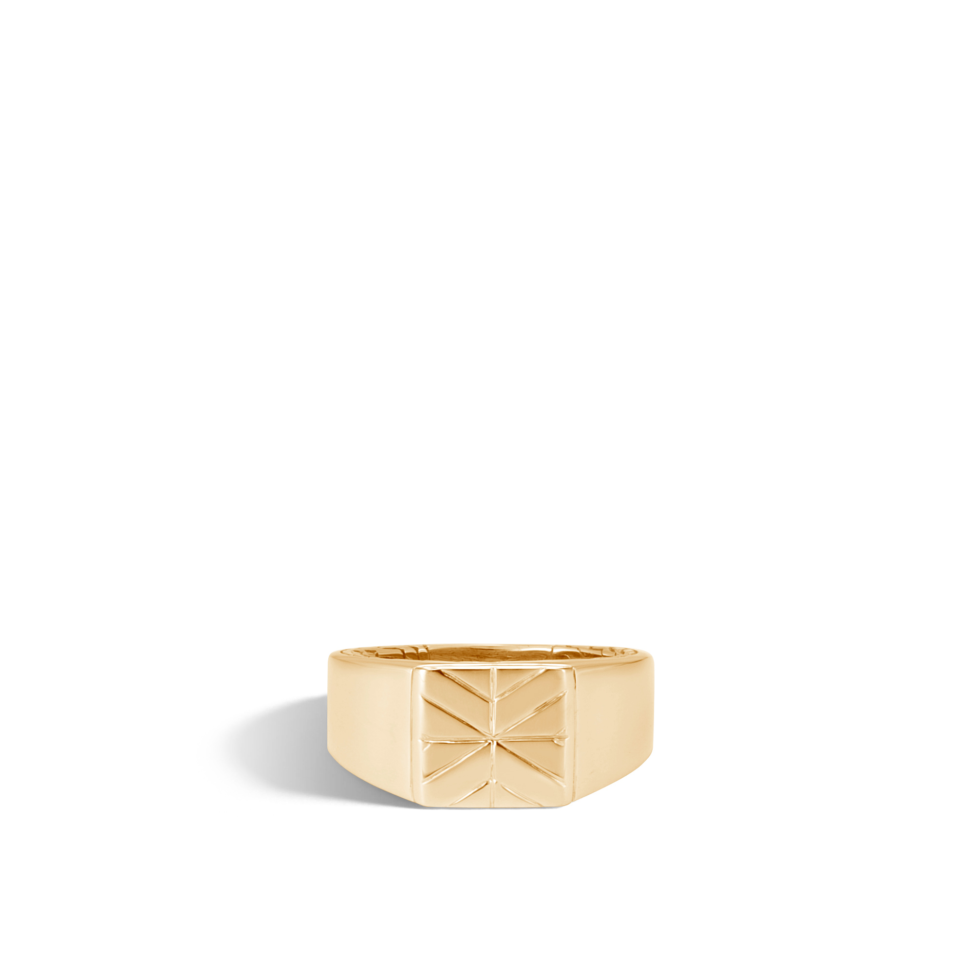 Modern Chain Signet Ring in 18K Gold, , large