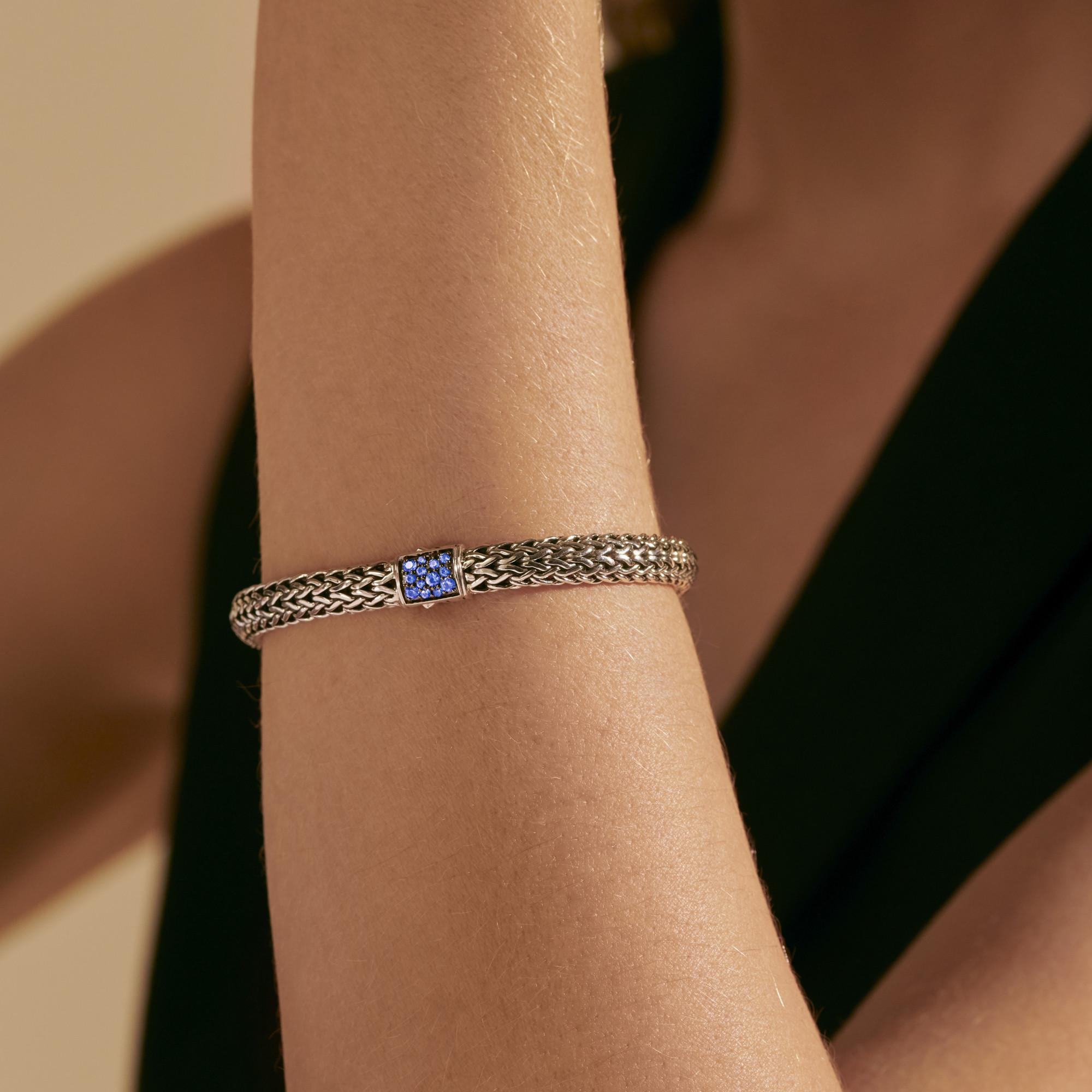 Classic Chain Reversible Icon Bracelet, Blue Sapphire, modelview