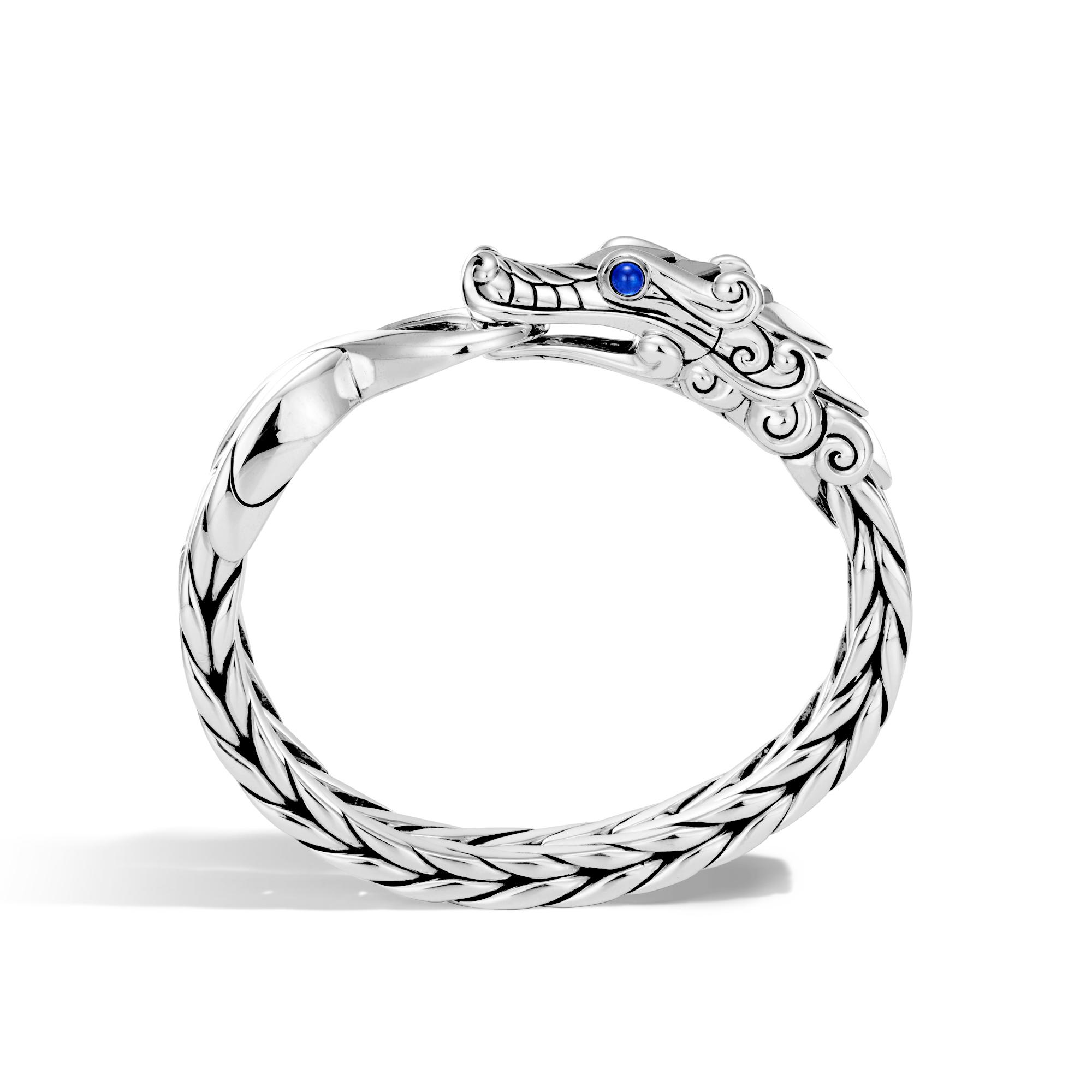 Legends Naga 16MM Station Bracelet in Silver, Blue Sapphire, large