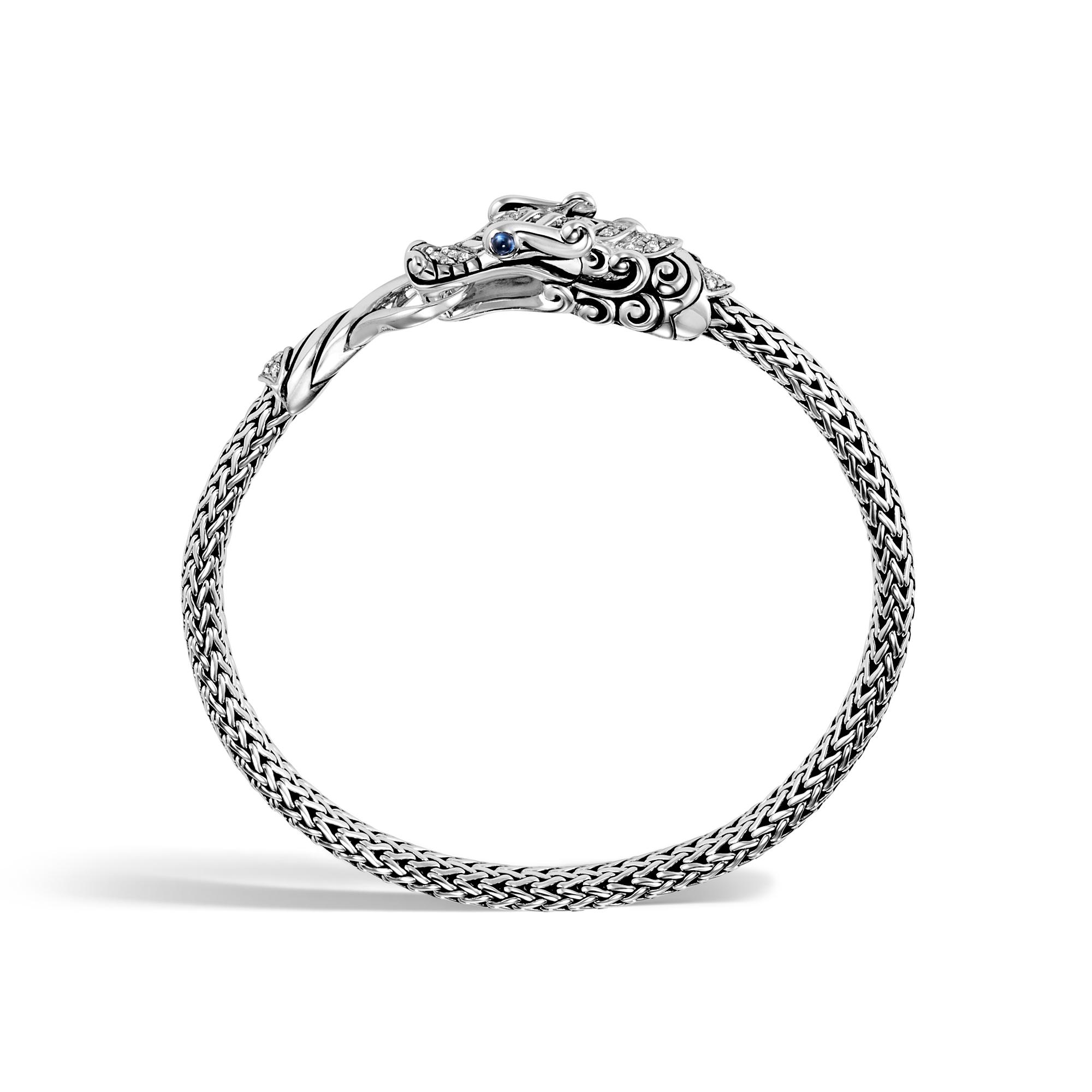 Legends Naga 5MM Station Bracelet in Silver with Diamond, White Diamond, large