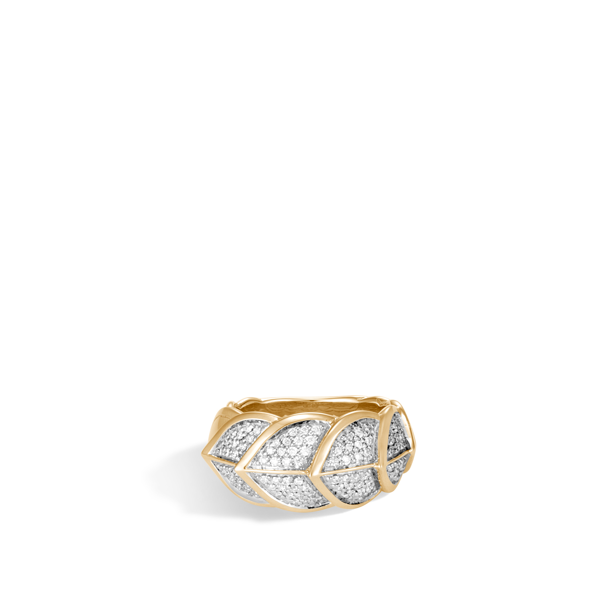 Legends Naga Ring in 18K Gold with Diamonds, White Diamond, large