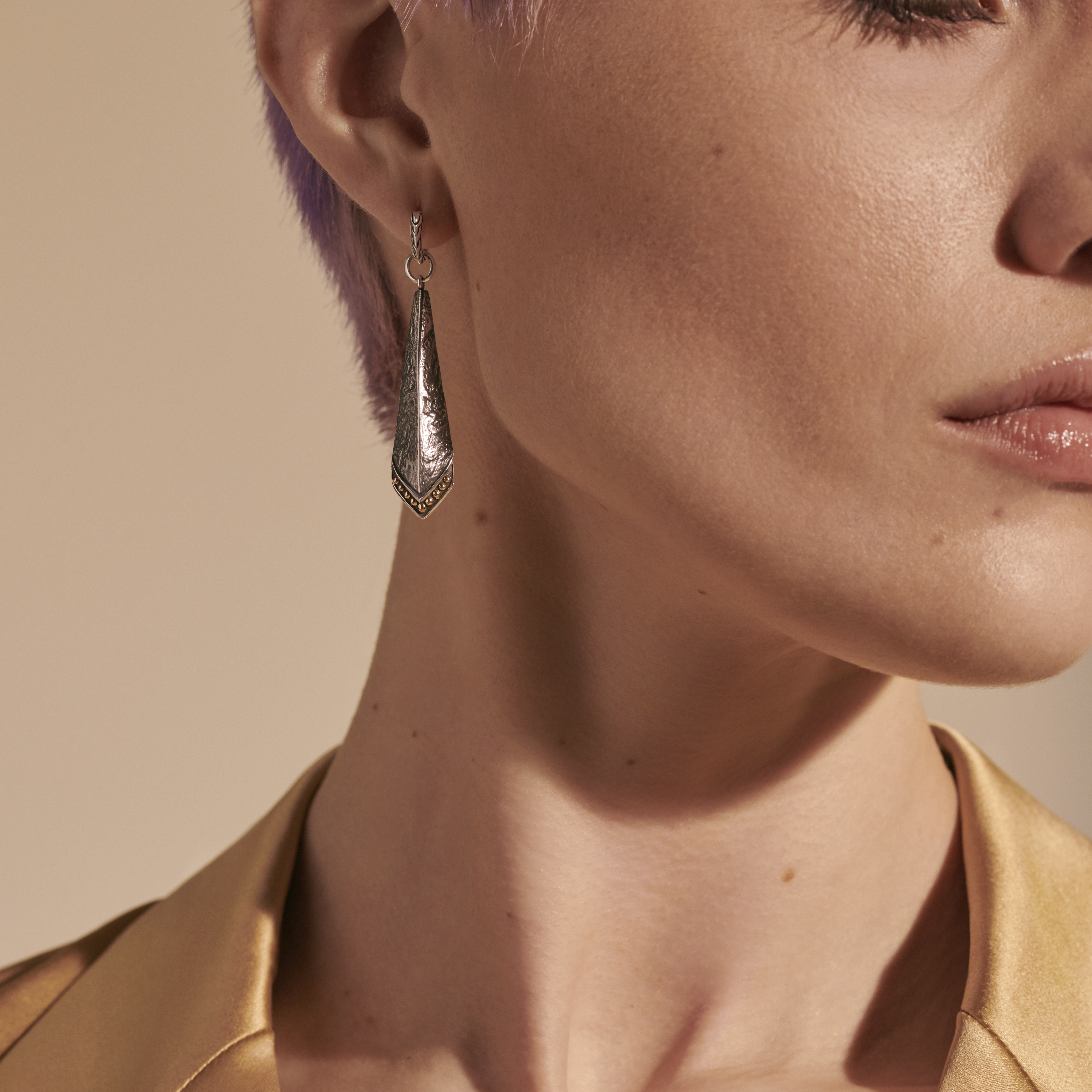 Reticulated Drop Earring , , modelview