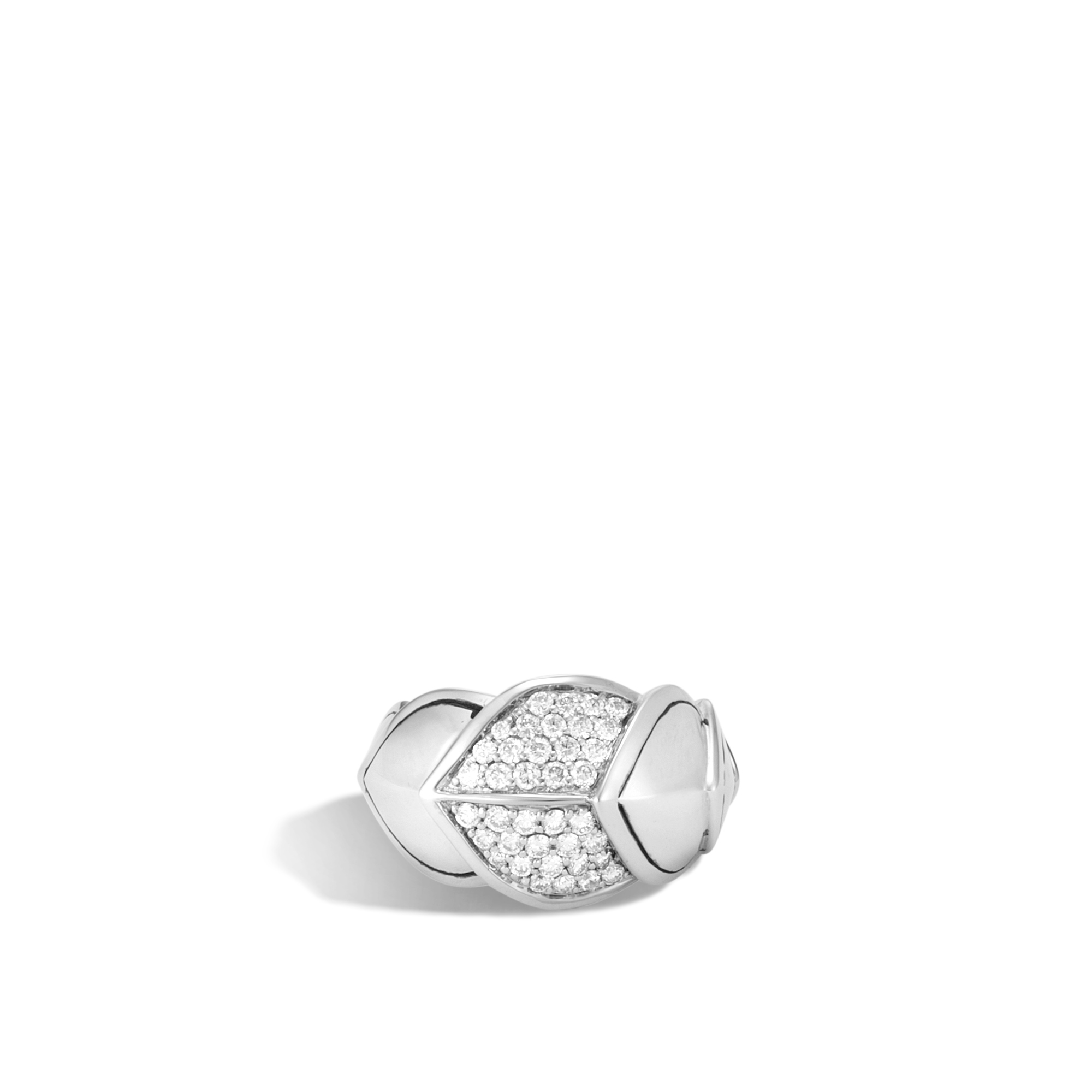 Legends Naga 15MM Ring in Silver with Diamonds, White Diamond, large