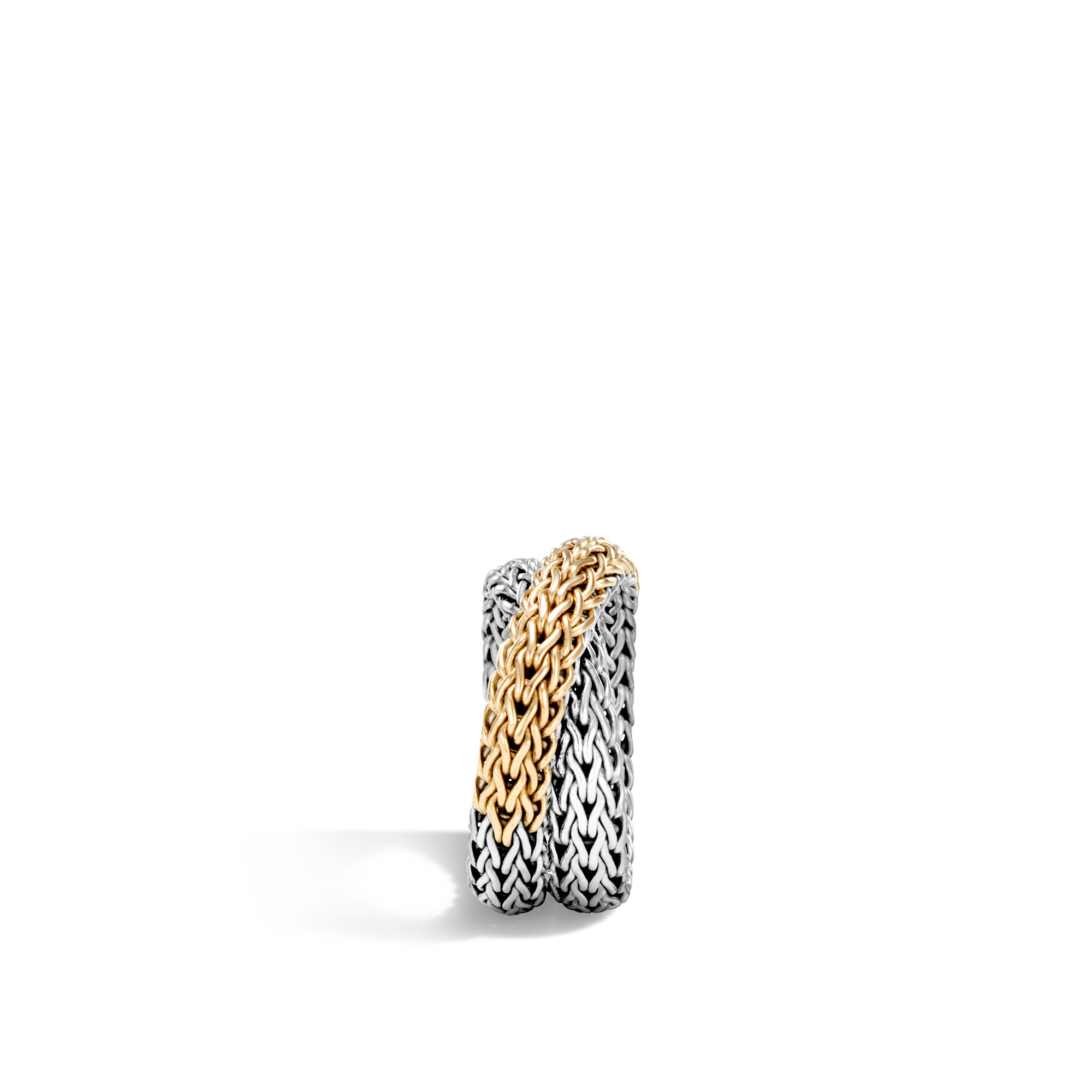 Classic Chain Overlap Ring in Silver and 18K Gold, , large