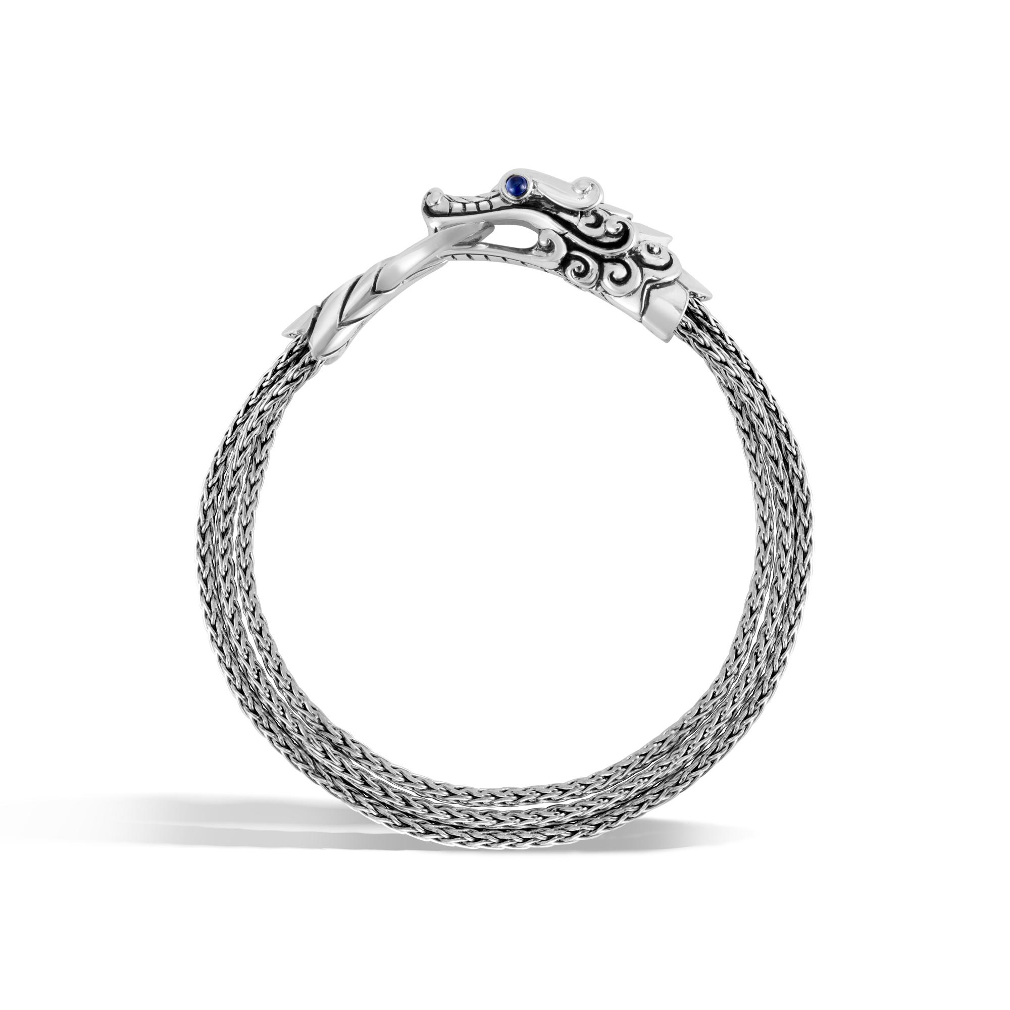 Legends Naga Multi Row Bracelet in Silver, Blue Sapphire, large
