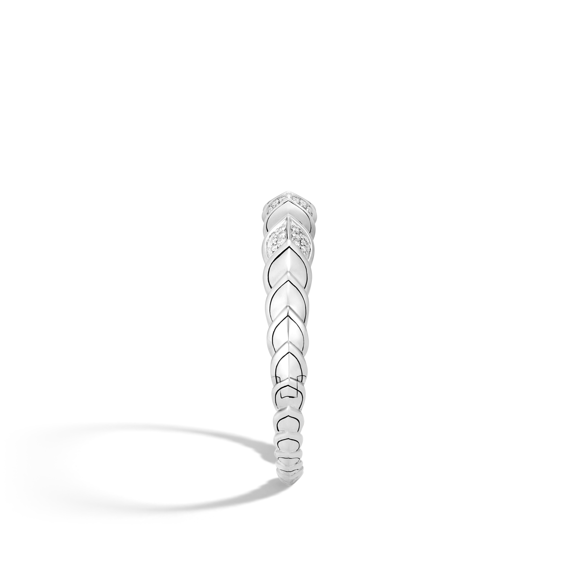 Legends Naga 11MM Cuff in Silver with Diamonds, White Diamond, large