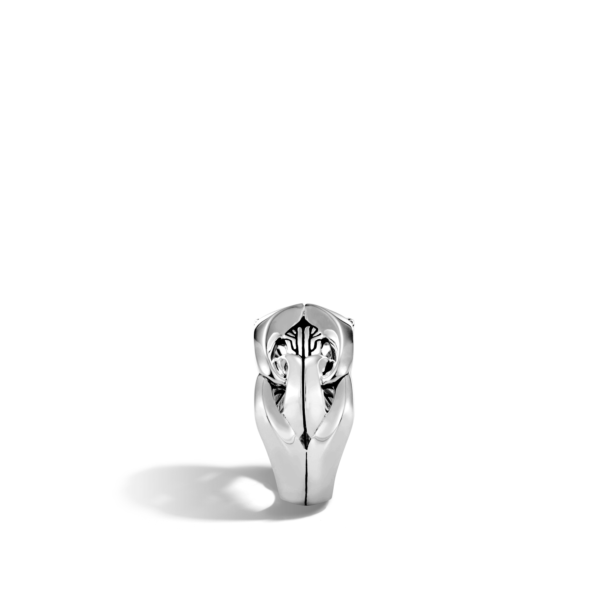 Asli Classic Chain Link 13MM Band Ring in Silver, , large