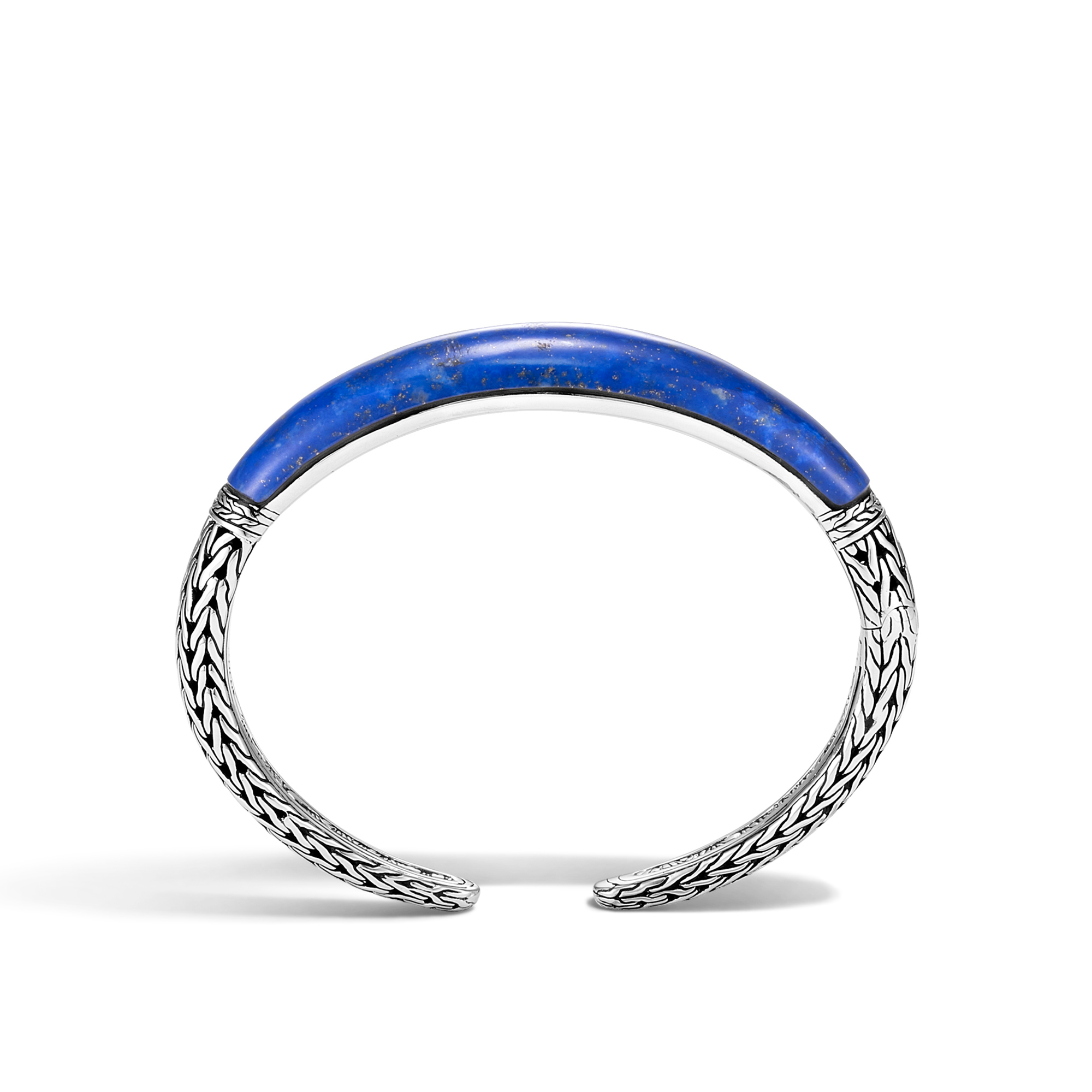 Classic Chain 11mm Kick Cuff in Silver with Gemstone, Lapis Lazuli, large